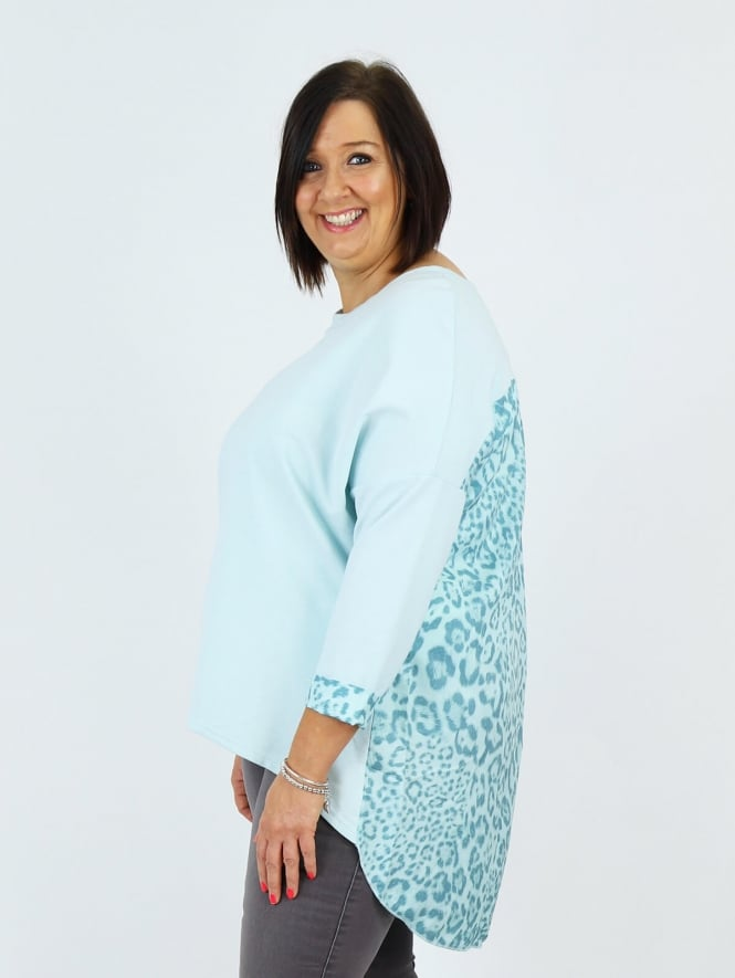 Deux Two for Kit and Kaboodal Leopard Silk Back Top