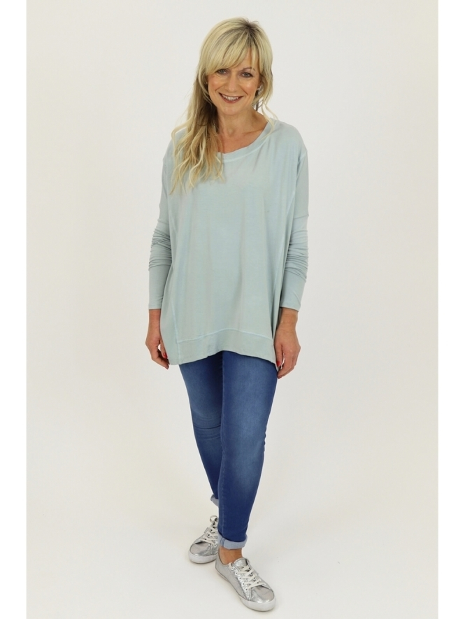 Deux Two for Kit and Kaboodal Long Sleeve Dipped Hem Top