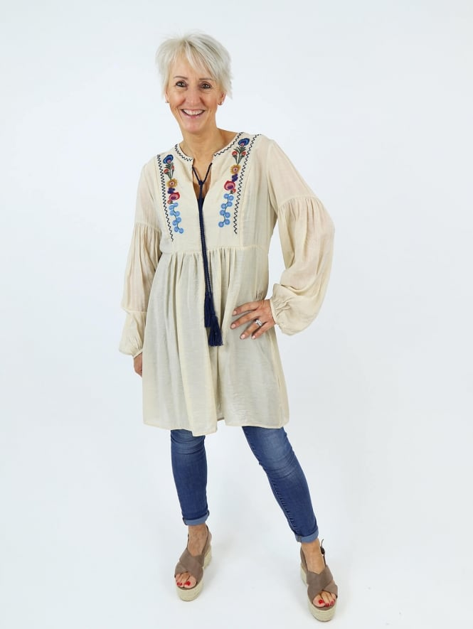 Deux Two for Kit and Kaboodal Sassari Embroidered Tunic