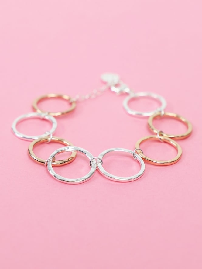 Kit and Kaboodal Camilla Bracelet Silver and Rose Gold