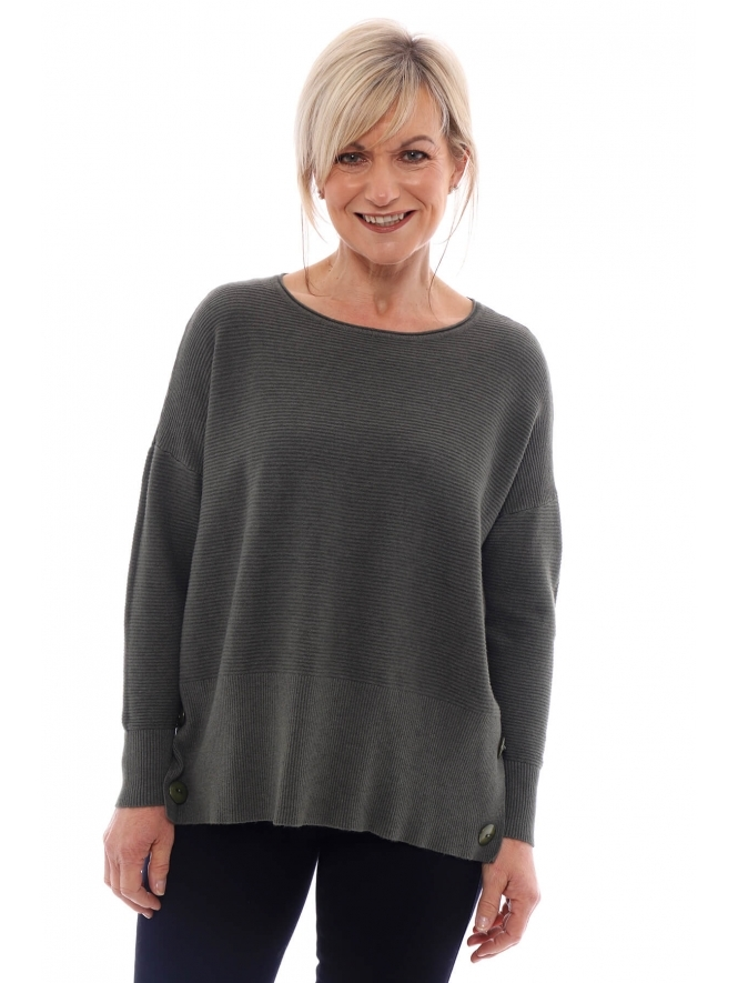 Kit and Kaboodal Kaila Button Ribbed Jumper