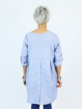 Kit and Kaboodal Made With Love Lantana Lulu Button Back Cotton Tunic