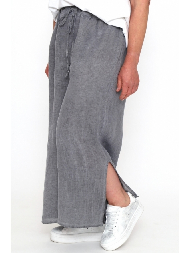 Made in Italy Annet Washed Linen Trousers