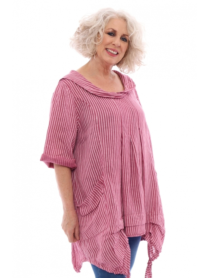 Made in Italy Artist Stripe Linen Tunic
