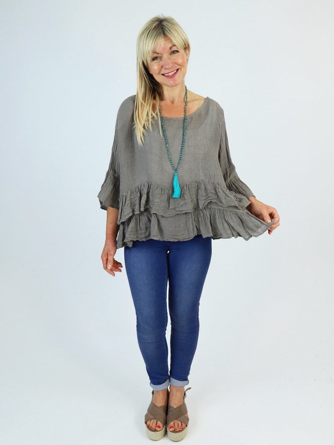 Made In Italy Aurora Linen Top