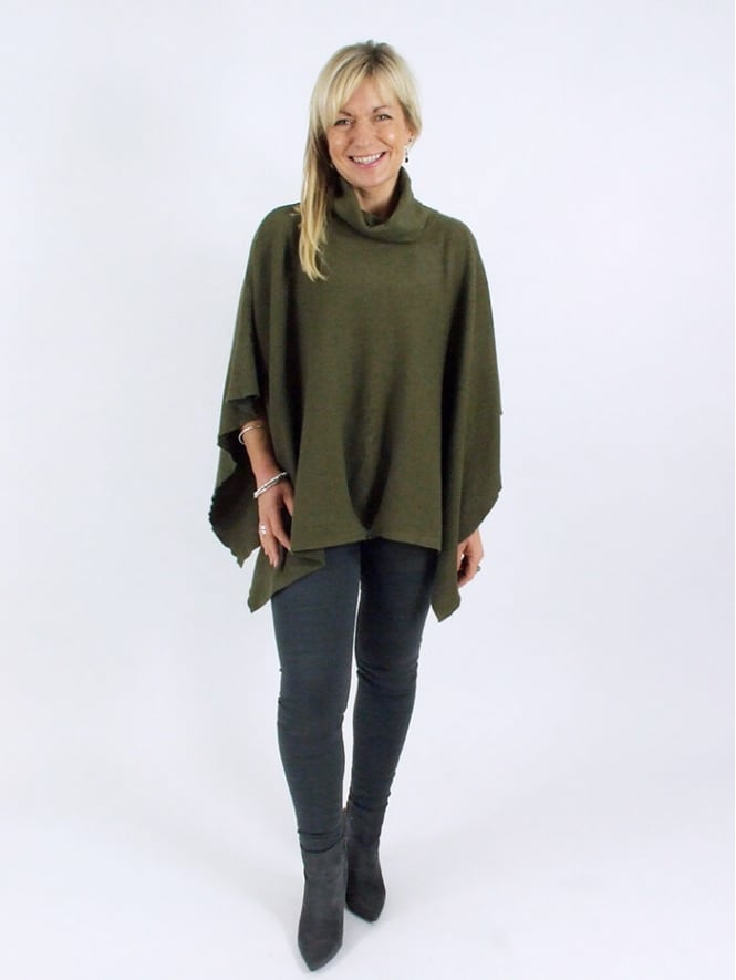 Made in Italy Bakewell Polo Neck Poncho