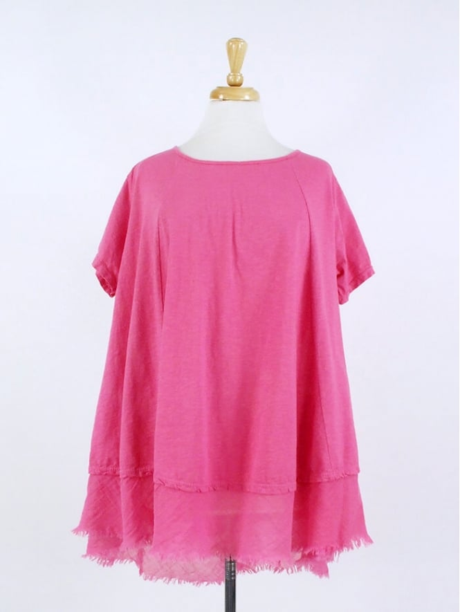Made in Italy Beeswing Cotton Jersey Top