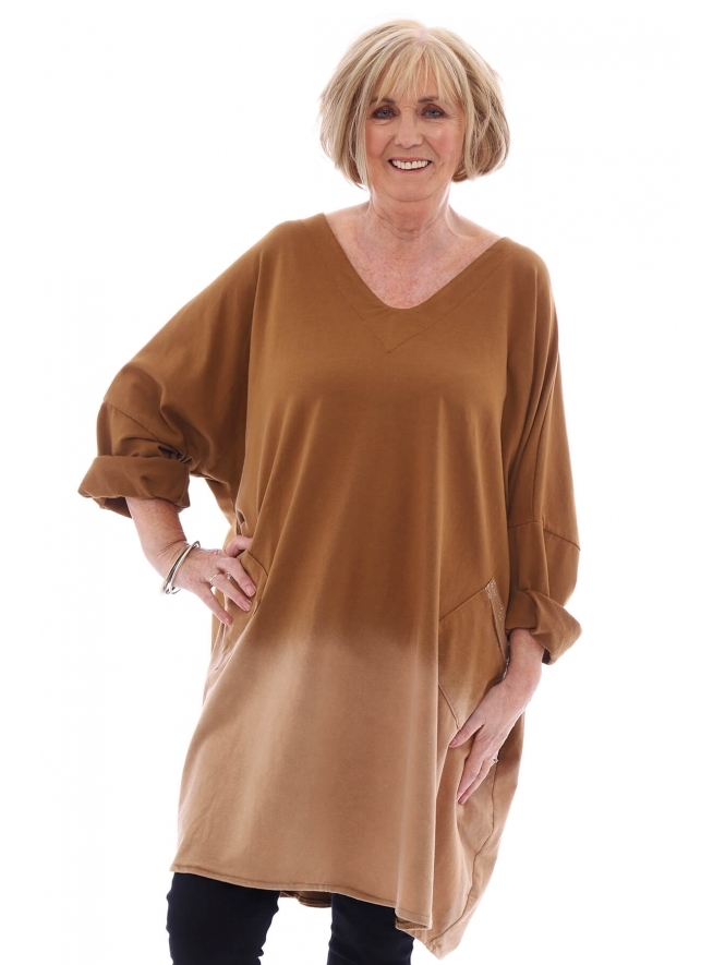 Made in Italy Berwyn Sequin Pocket Jersey Tunic