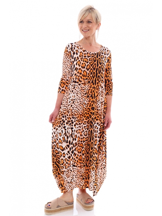 Made in Italy Boswin 2 Animal Print Dress