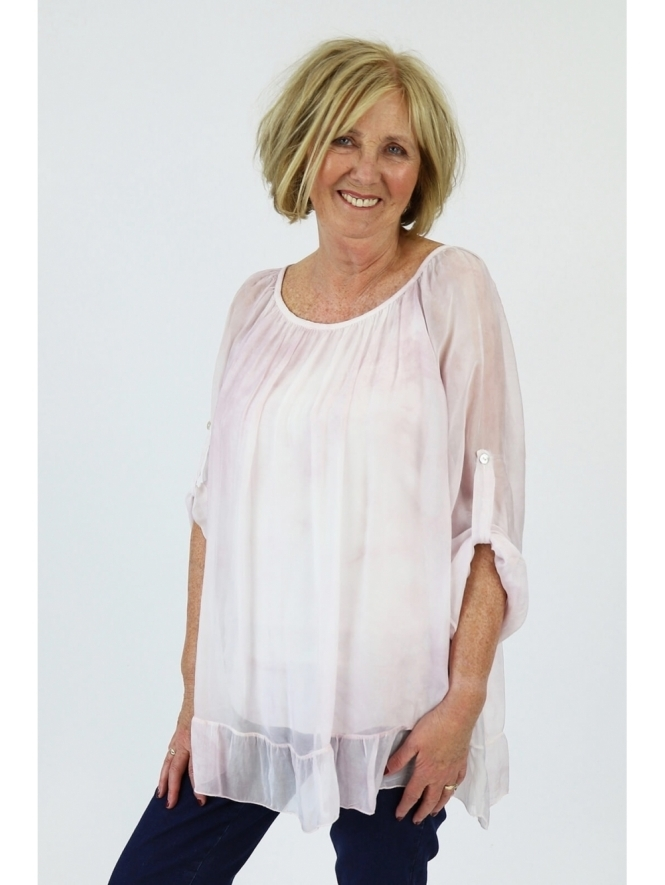 Made in Italy Cady Silk Top