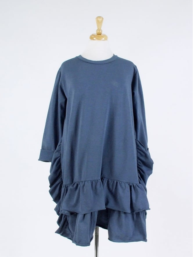 Made in Italy Cannock Frill Tunic Dress
