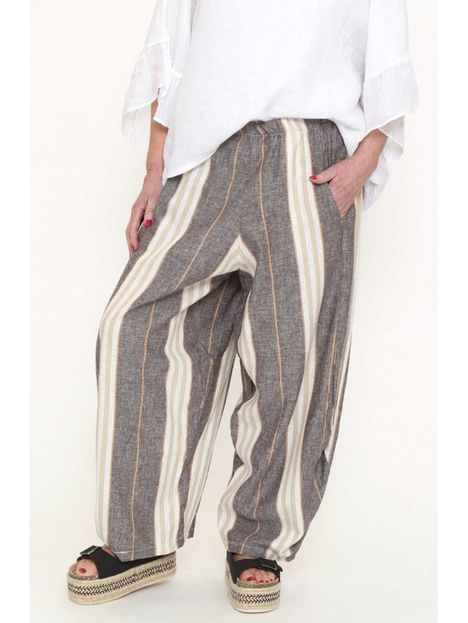 Made in Italy Capri Stripe Trousers