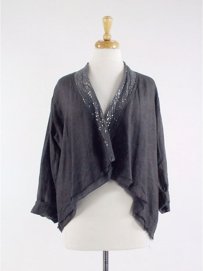 Made In Italy Chicago Sequin Linen Jacket