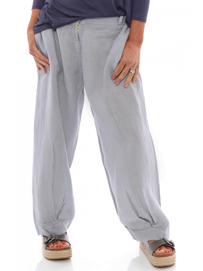 Made in Italy Cora Linen Trousers