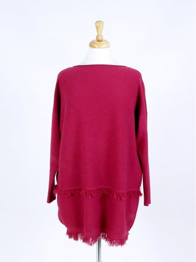 Made in Italy Crewe Tassel Jumper