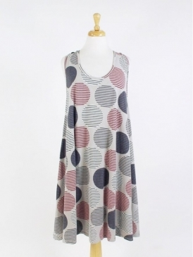 Made in Italy Crovie Spot Tunic Dress