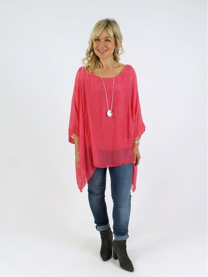 Made In Italy Crudden Silk Top