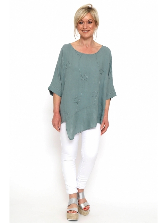 Made in Italy Culbee Linen Star Top