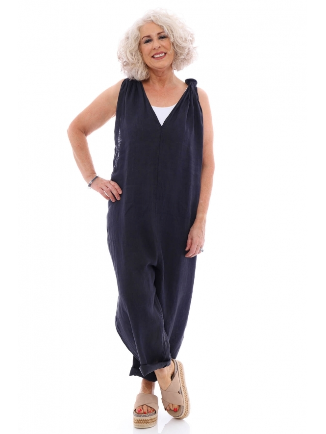 Made in Italy Derrington Linen Jumpsuit