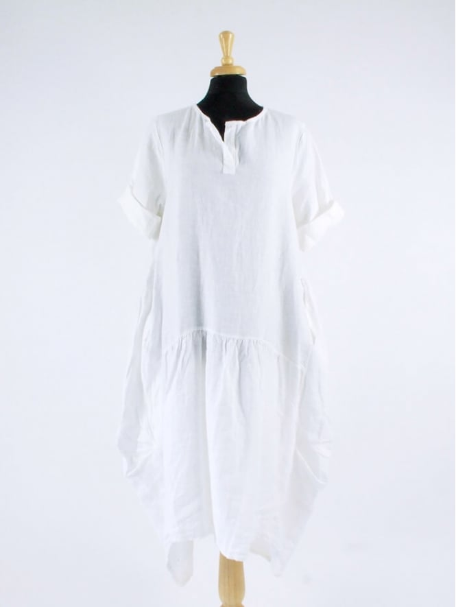 Made in Italy Dunmow Drawstring Linen Dress
