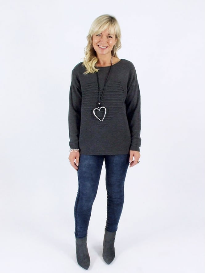 Made in Italy Easton Heart Jumper