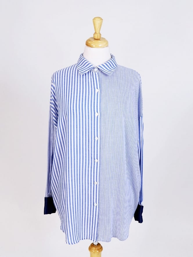 Made In Italy Ferrara Denim Cuff Shirt