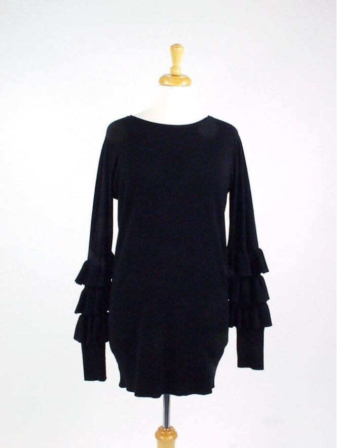 Made In Italy Flamenco Frill Jumper