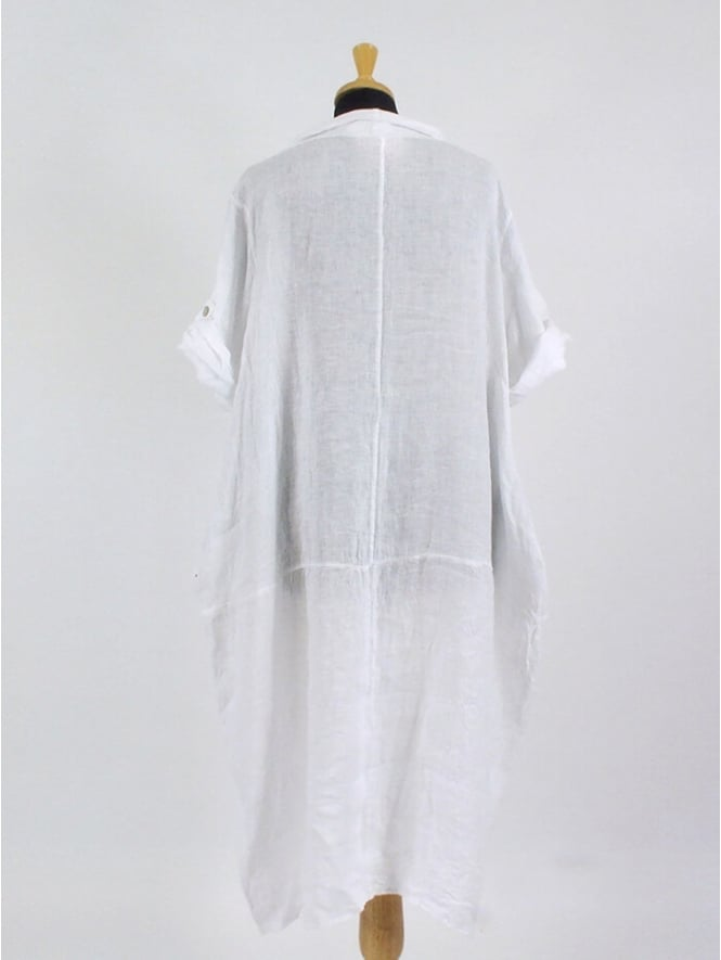 e1d7f2901b2 Made In Italy Foxhole Linen Dress