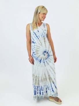 Made in Italy Gaeta Cotton Tie Dye Dress