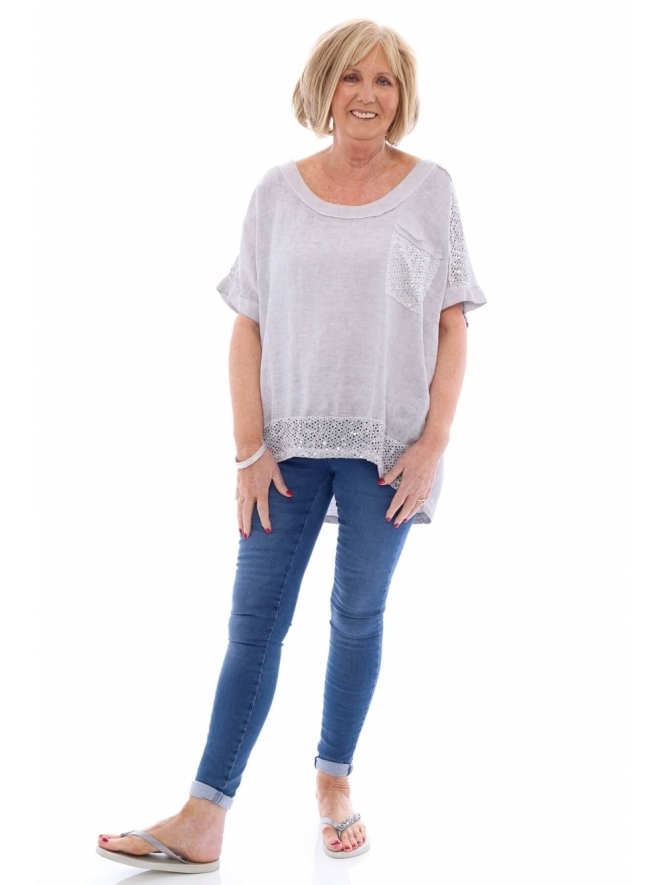 Made in Italy Helensburgh Sequin Top