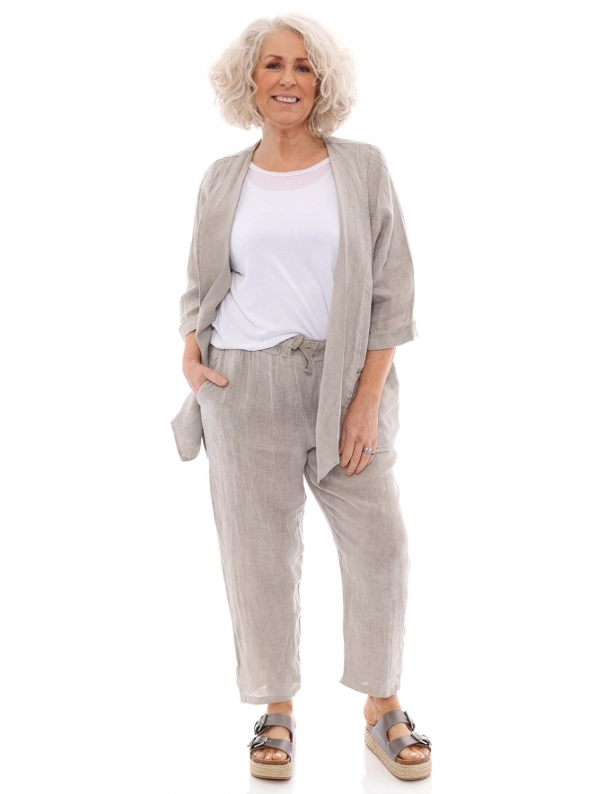 Made in Italy Hettie Primavera Linen Trousers