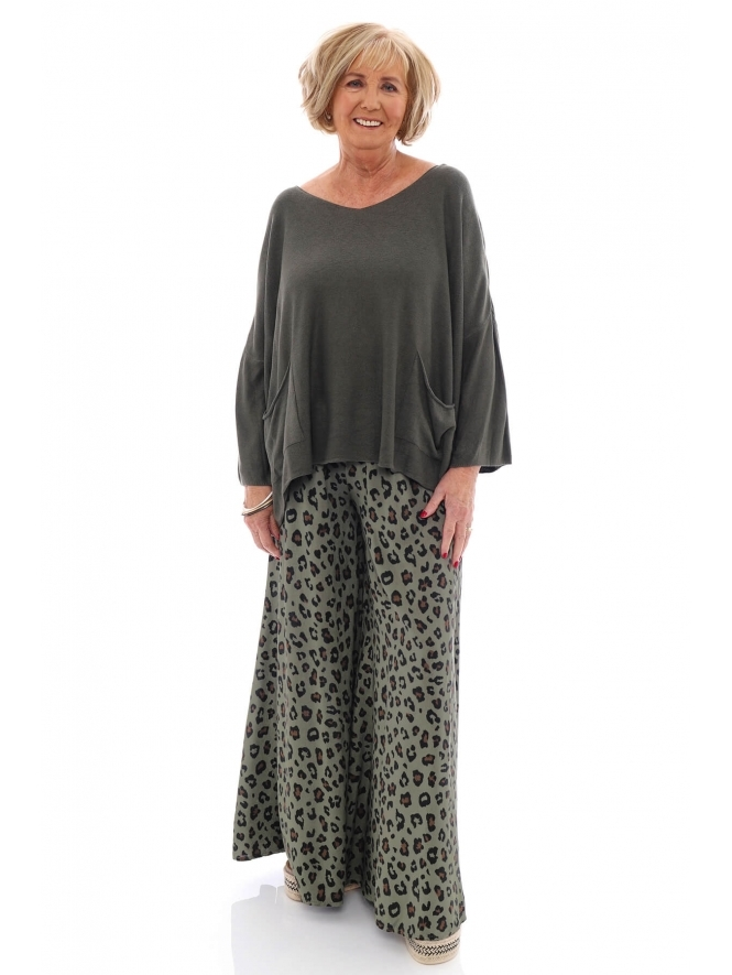 Made in Italy Jessie Animal Print Trousers