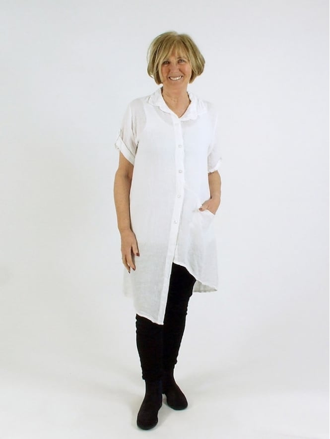 Made in Italy Kiddshill Linen Shirt Tunic