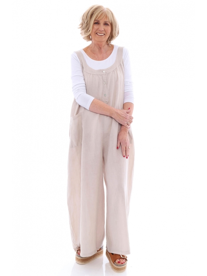 Made in Italy Kildary Linen Jumpsuit