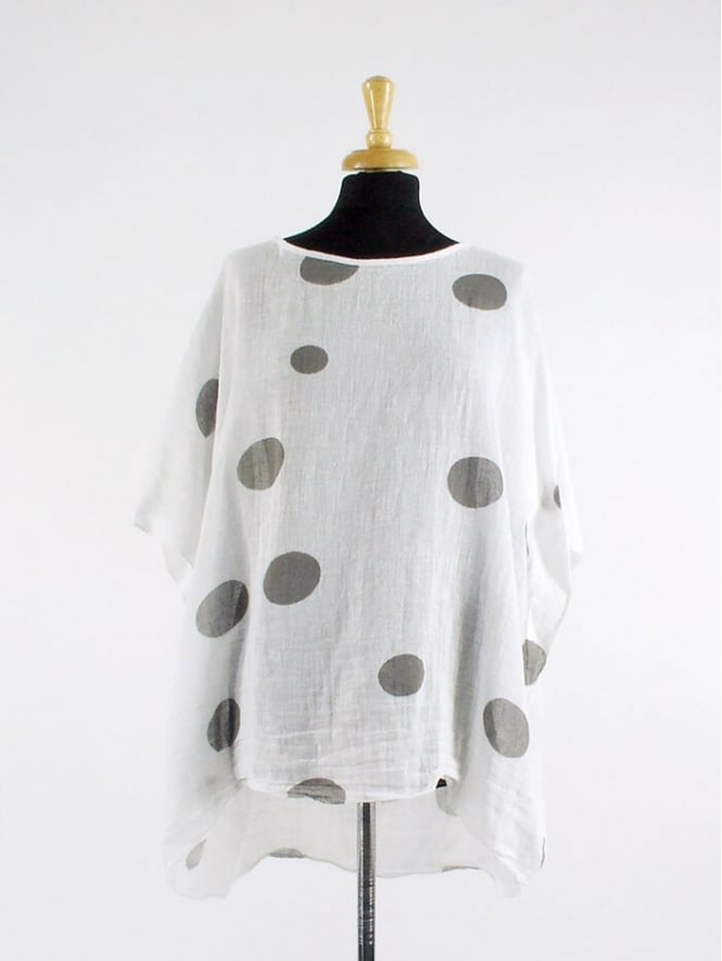Made in Italy Kinver Spotted Linen Top
