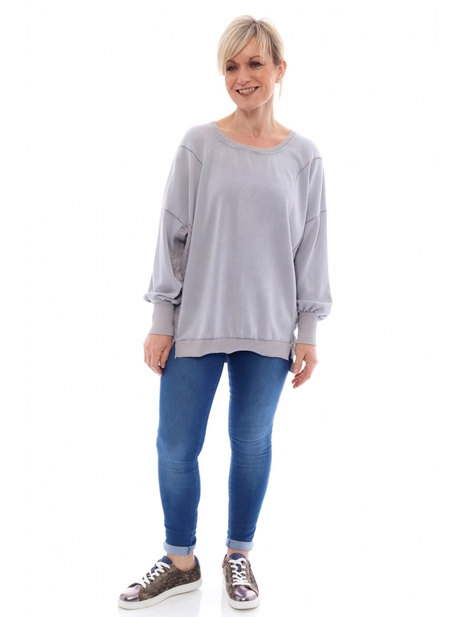 Made in Italy Lambley Washed Sweat Top