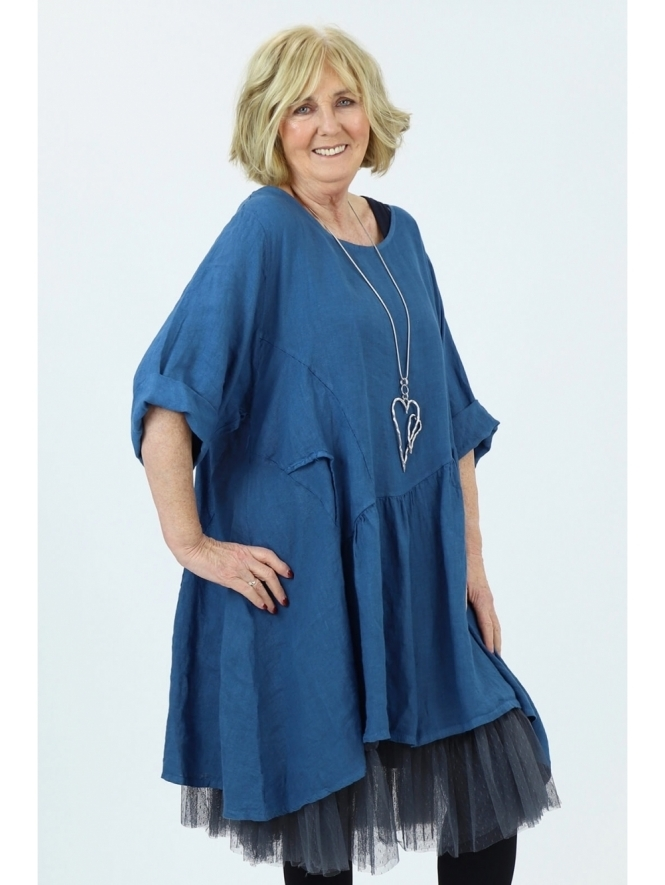 Made in Italy Lanton Linen Tunic Dress