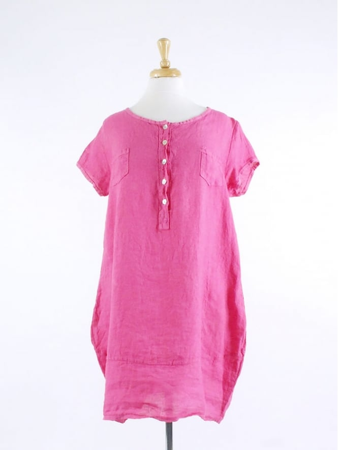 Kit and Kaboodal Made In Italy Leah Linen Tunic Dress