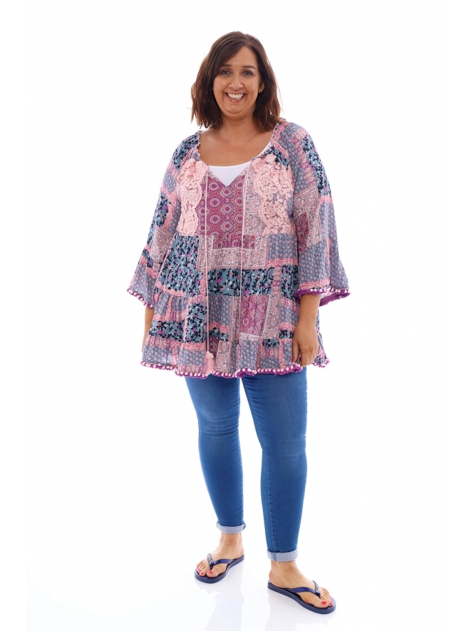Made in Italy Lindisfarne Pom Pom Tunic
