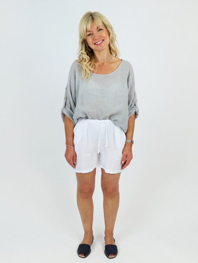 Made in Italy Macello Linen Shorts