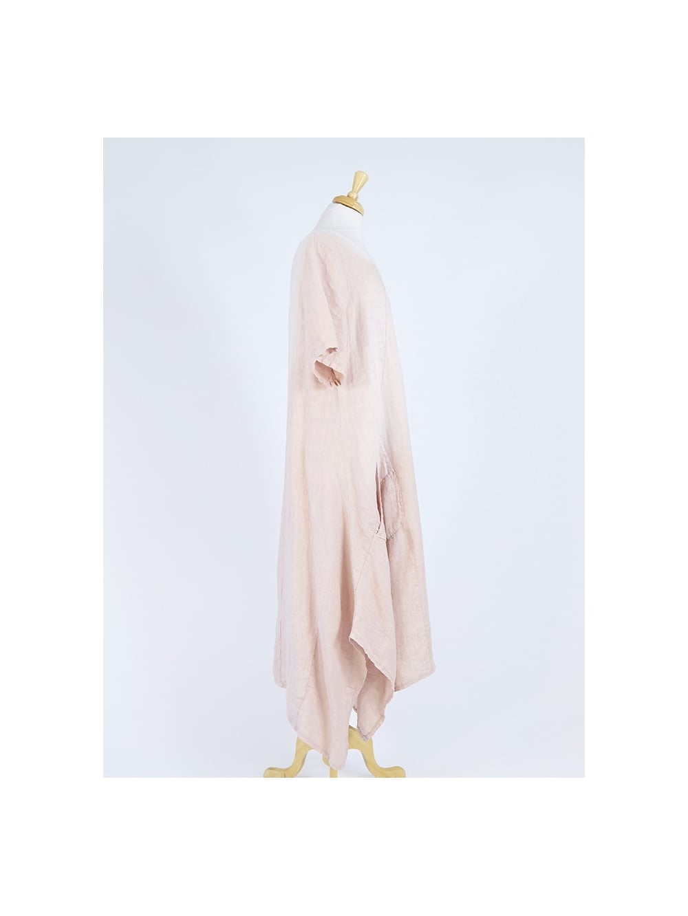 c44b000bef Made in Italy Maida Long Length Linen Dress
