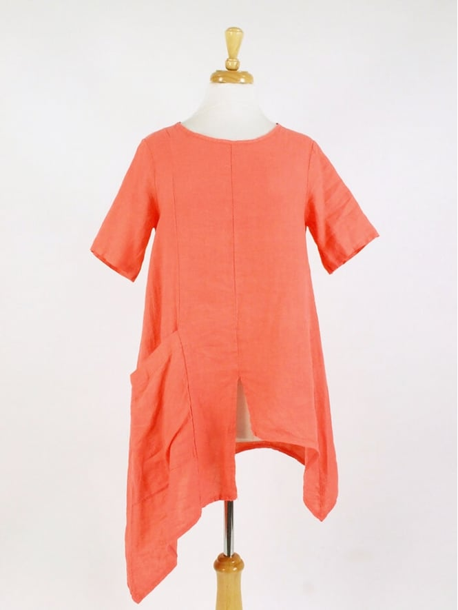 Made In Italy Maypole Linen Tunic