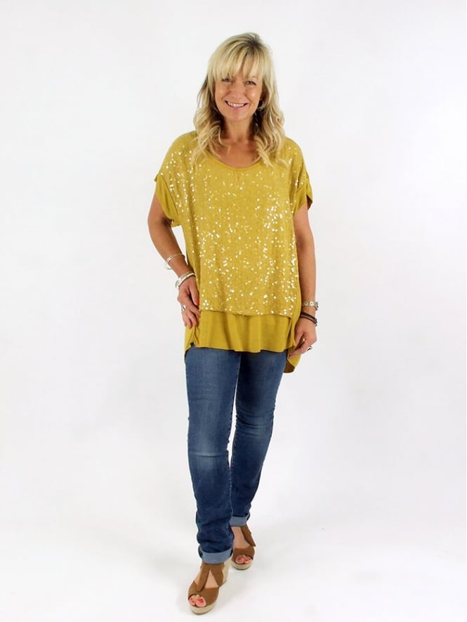 Made In Italy Melrose Sequin Top