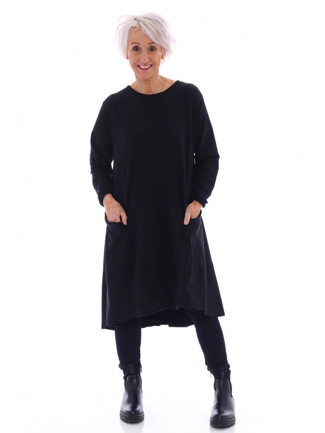 Made in Italy Mercy Dipped Hem Tunic Dress