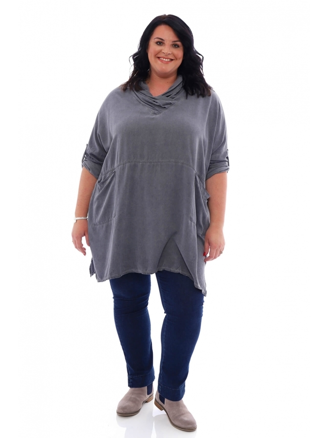 Made in Italy Montpellier Washed Tunic