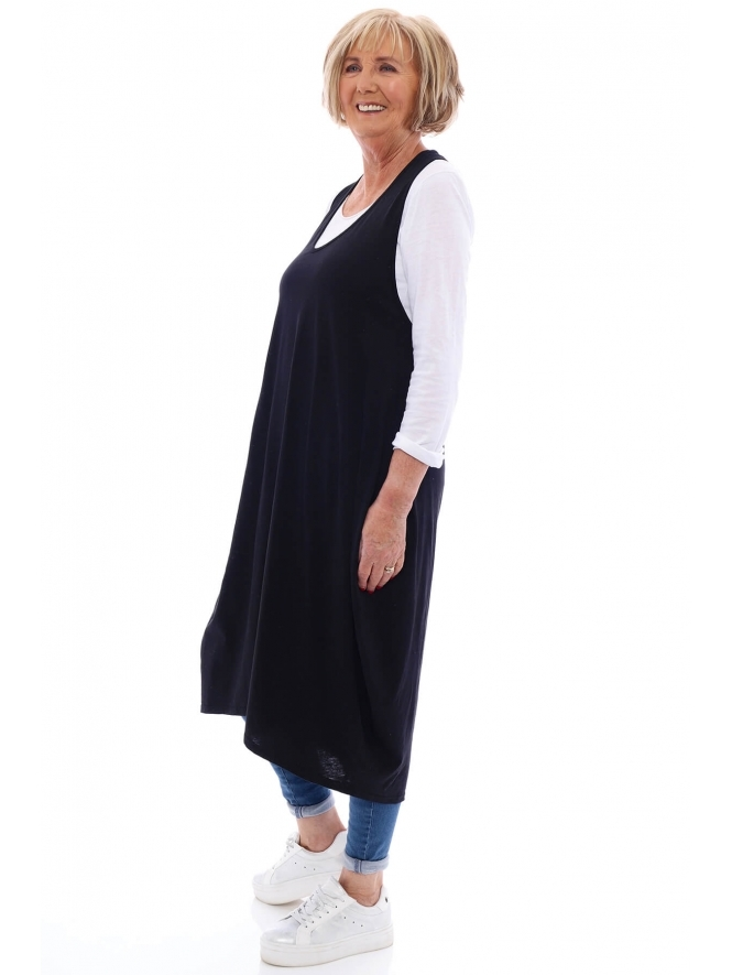 Made in Italy Owley Double Layer Tunic Dress