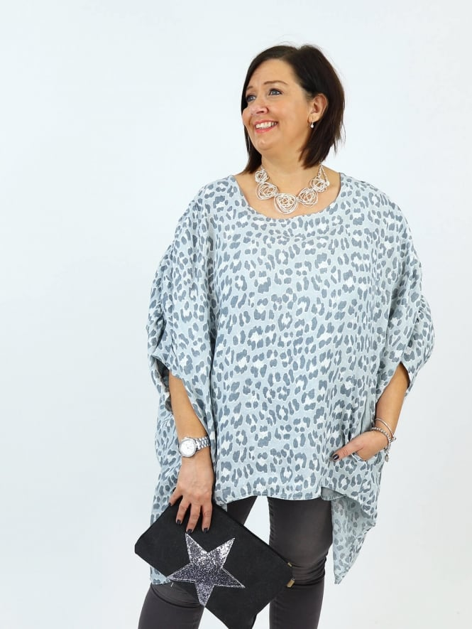 Made in Italy Parma Leopard Print Top