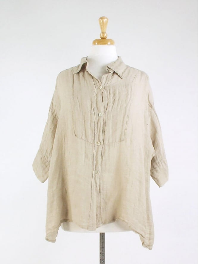Made In Italy Piersend Linen Shirt