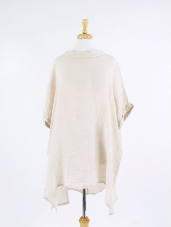 Kit and Kaboodal Made in Italy Polbain Linen Tunic Top