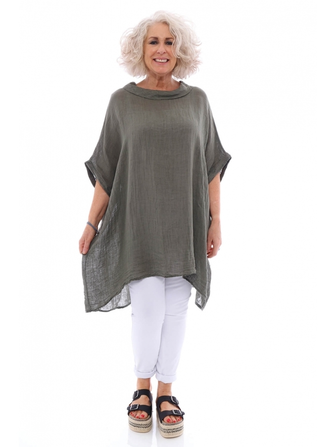 Made in Italy Polbain Linen Tunic Top